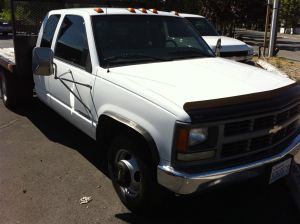 1997 Chevy 3500 Ext Cab Flat Bed